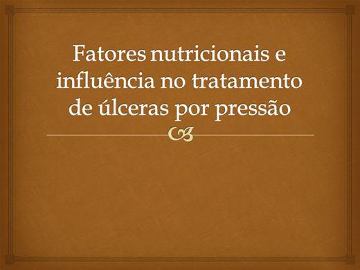 Curso Online de Fatores nutricionais e úlceras por pressão