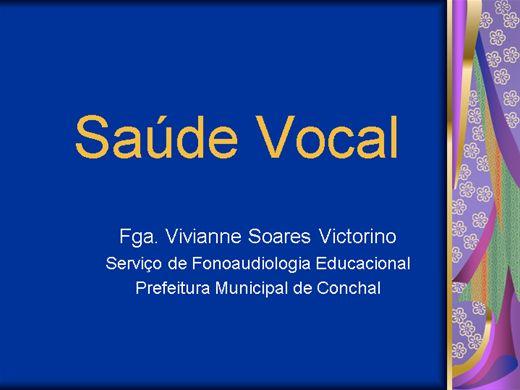 Curso Online de Saúde Vocal