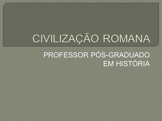 Curso Online de ROMA ANTIGA