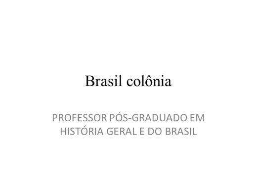 Curso Online de Brasil colônia