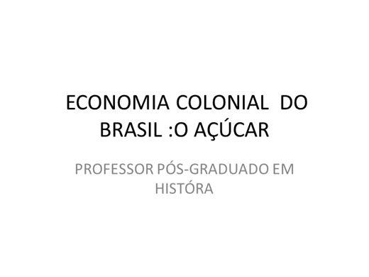 Curso Online de Economia do Brasil Colônia
