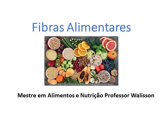Curso Online de Fibras Alimentares