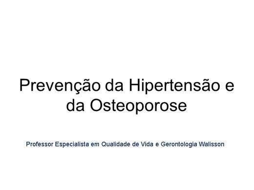 Curso Online de Prevenção da Hipertensão e da Osteoporose