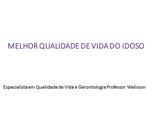 Curso Online de MELHOR QUALIDADE DE VIDA DO IDOSO