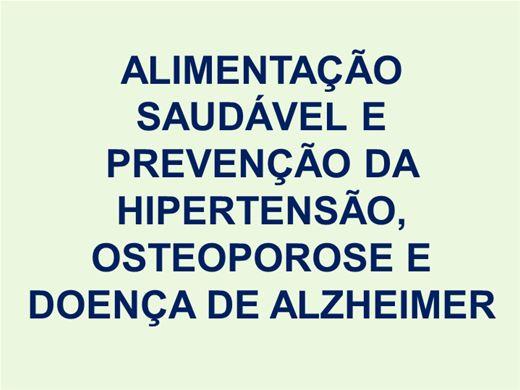 Curso Online de Prevenção da Hipertensão, Osteoporose e Doença de Alzheimer