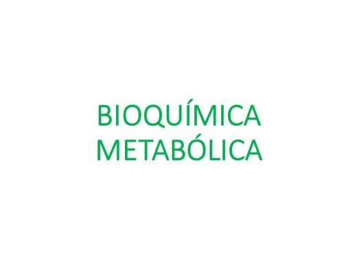 Curso Online de Bioquímica Metabólica