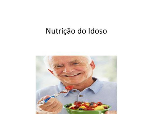 Curso Online de Nutrição do Idoso