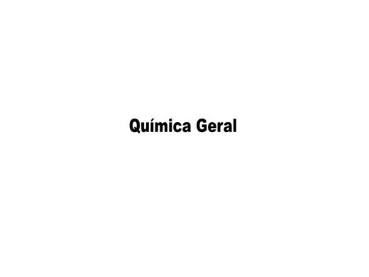 Curso Online de Química Geral