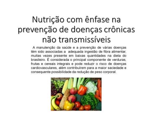 Curso Online de Nutrição com ênfase na prevenção de doenças crônicas não transmissíveis
