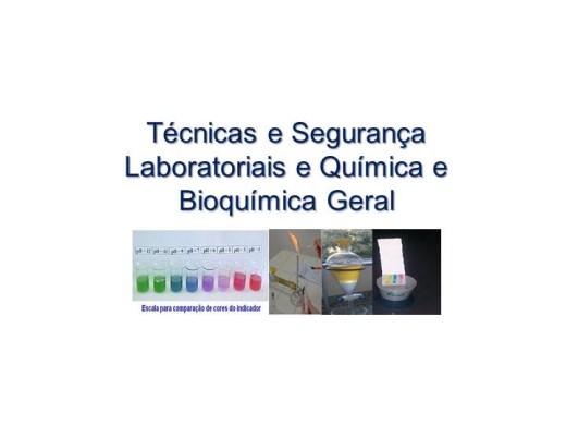 Curso Online de Técnicas e Segurança Laboratoriais e Química e Bioquímica Geral