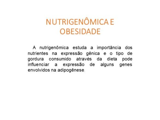 Curso Online de Nutrigenômica e Obesidade