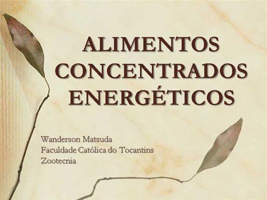 Curso Online de ALIMENTOS ENERGÉTICOS CONCENTRADOS