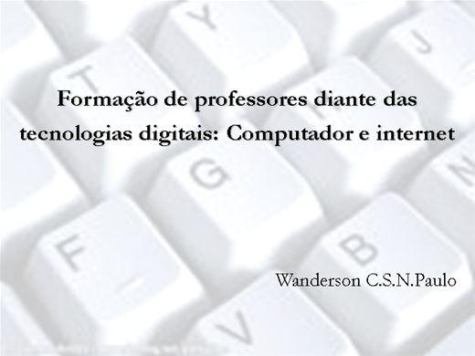 Curso Online de Formação de professores diante das  tecnologias digitais: Computador e internet