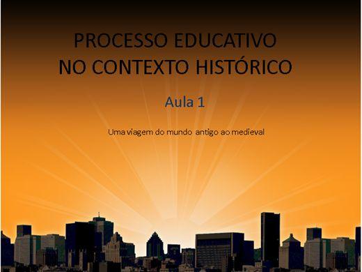 Curso Online de PROCESSO EDUCATIVO NO CONTEXTO HISTORICO AULA 1