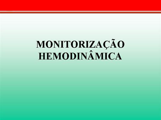 Curso Online de Monitorização Hemodinâmica