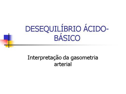 Curso Online de Entendendo Gasometria Arterial