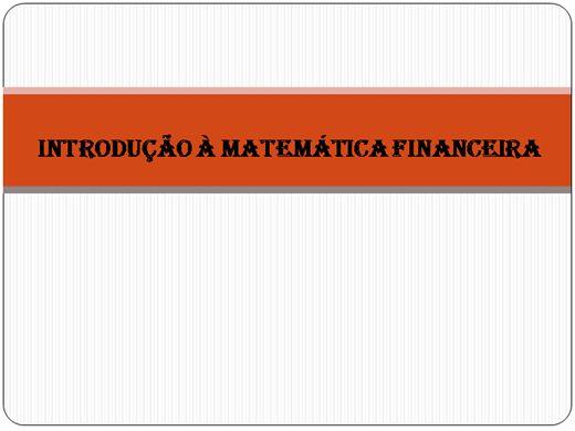 Curso Online de Introdução à Matemática Financeira