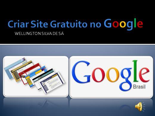 Curso Online de Criar Site Gratuito no Google
