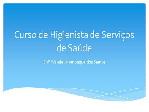 Curso Online de Higienista de Serviços de Saúde