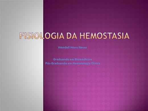Curso Online de Fisiologia da hemostasia