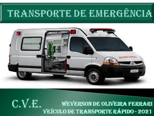 Curso Online de Transporte de Emergência - Condutor de Veículos de emergência C.V.E