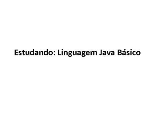 Curso Online de Introdução a Linguagem Java