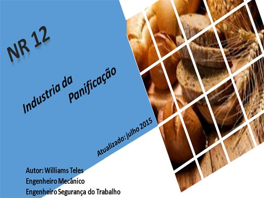 Curso Online de NR 12 PARA PANIFICADORES