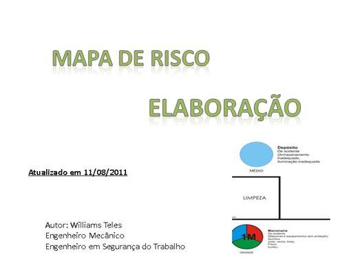 Curso Online de ELABORAÇÃO DO MAPA DE RISCO