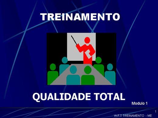 Curso Online de QUALIDADE TOTAL MODULO Nº 1