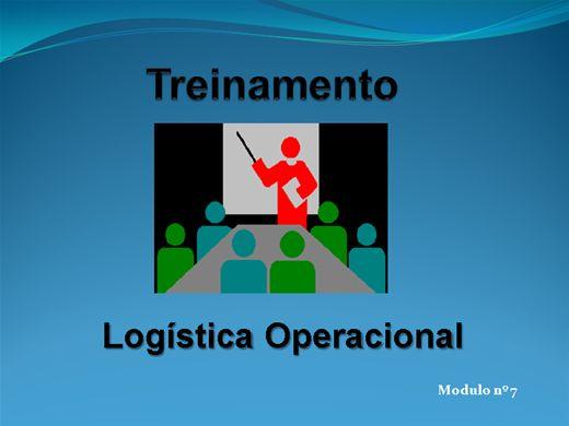Curso Online de LOGÍSTICA OPERACIONAL MODULO Nº  7
