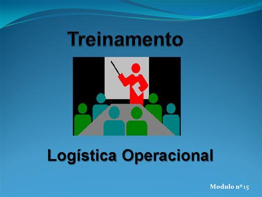 Curso Online de LOGÍSTICA OPERACIONAL MODULO Nº  15