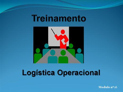 Curso Online de LOGÍSTICA OPERACIONAL MODULO Nº  16