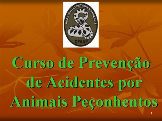 Curso Online de Prevenção de Acidentes por Animais Peçonhentos