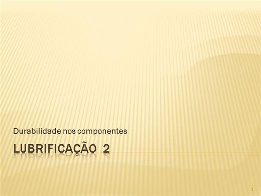 Curso Online de Lubrificação 2