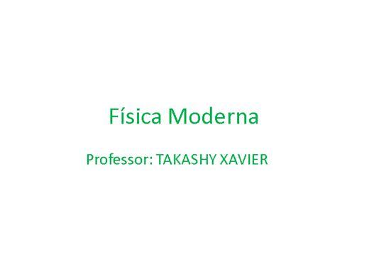 Curso Online de FÍSICA MODERNA  SÉCULO XX
