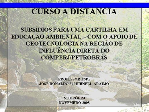 Curso Online de EDUCAÇÃO AMBIENTAL EM BACIAS HIDROGRÁFICAS